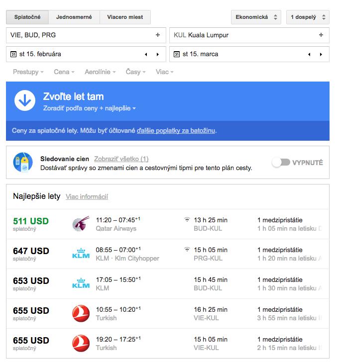 lacné letenky cez google flights