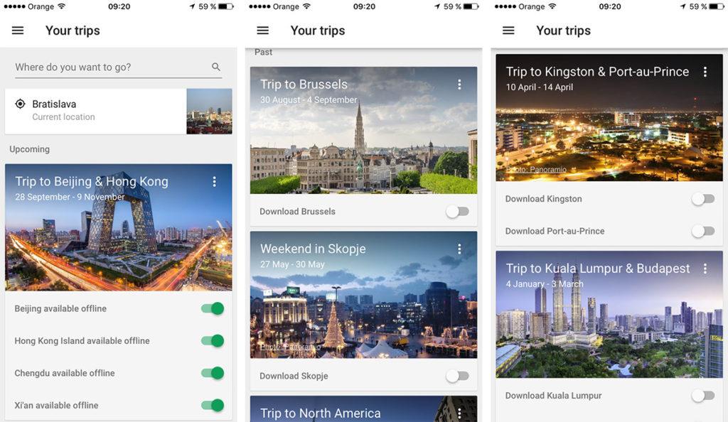 google trips cestovatelska aplikacia